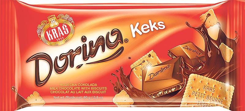 Mliječna čokolada sa keksom Dorina 80g