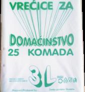 Vrećice za domaćinstvo 3l 25/1