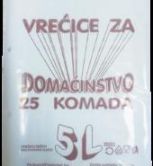 Vrećice za domaćinstvo 5l 25/1
