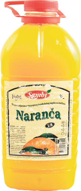 Sirup naranča light 3l