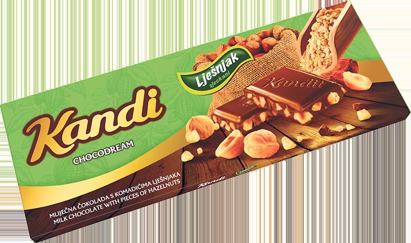 Čokolada mliječna sa sjeckanim lješnjakom 220g
