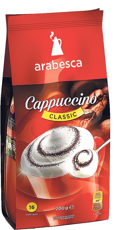 Cappucino Arabesca classic 200g