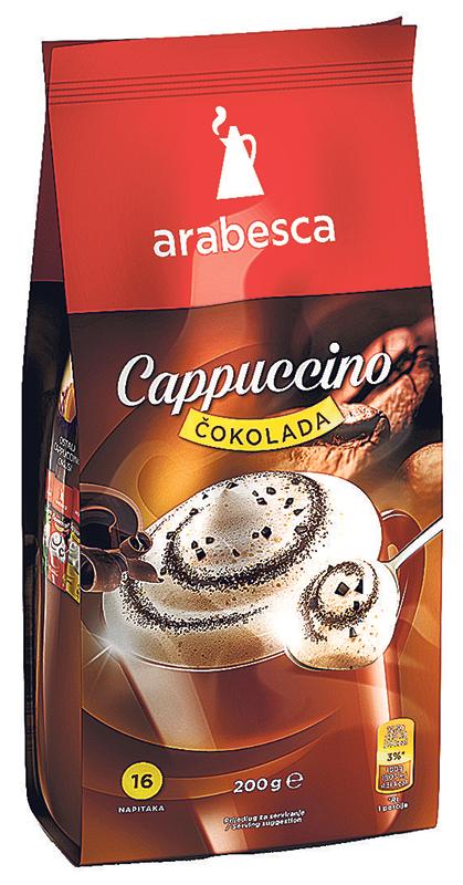 Cappucino Arabesca čokolada 200g