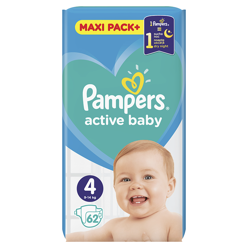 Dječje pelene Pampers Active baby maxi pack