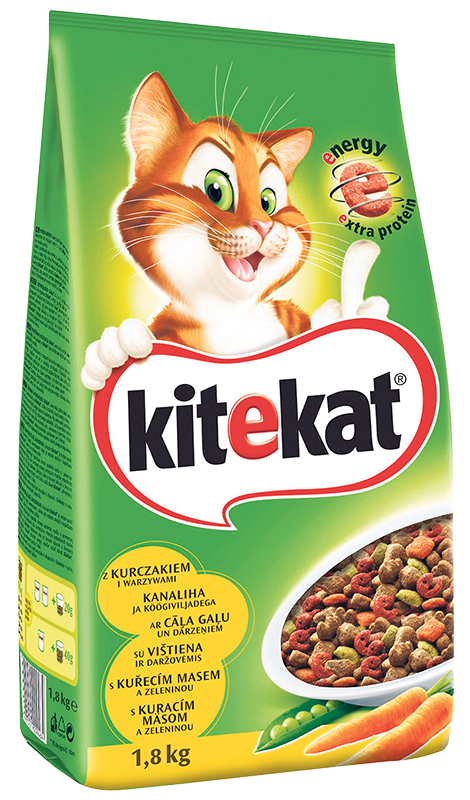 Suha hrana za mačke Kitekat 1,8kg
