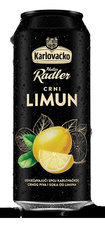 Karlovačko crni radler limun 0,5l