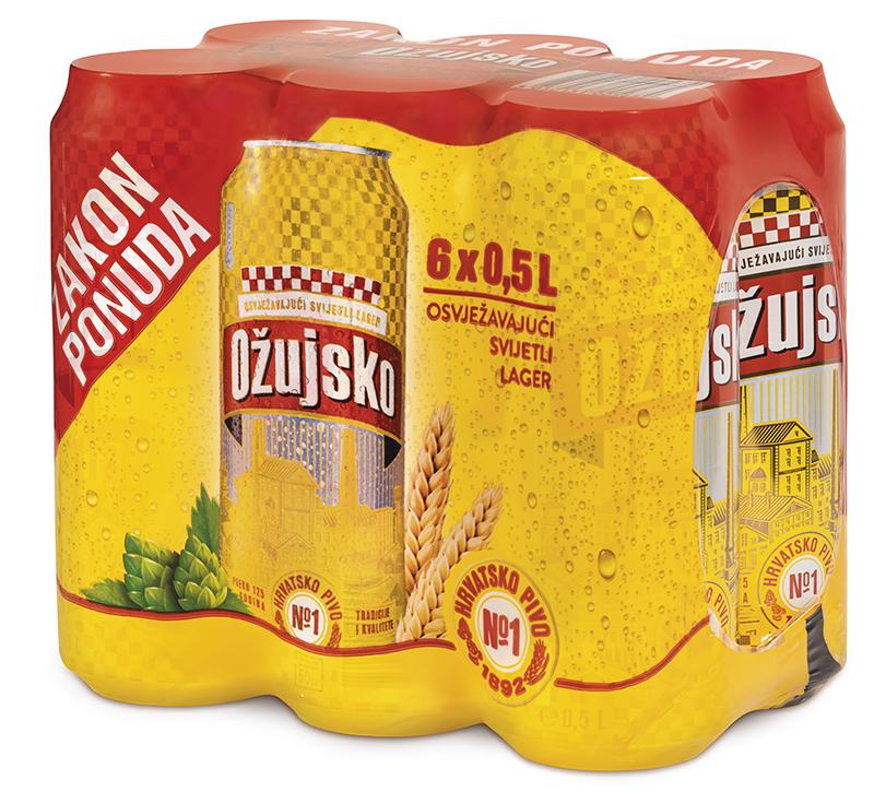 Ožujsko pivo limenke 6pack